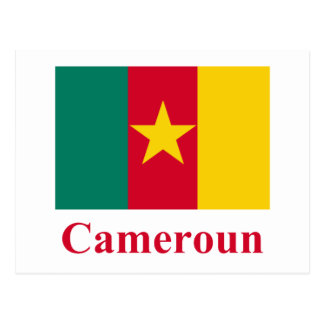 Cameroon Flag with Name in French Postcard