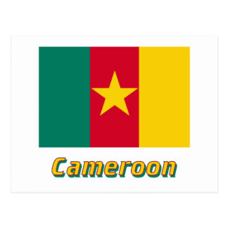 Cameroon Flag with Name Postcard