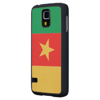 Cameroon Flag Carved® Maple Galaxy S5 Slim Case