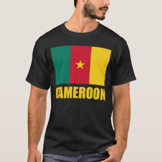 Cameroon Flag Yellow Text T-Shirt