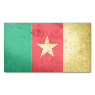 Cameroon Flag Magnetic Business Cards (Pack Of 25)