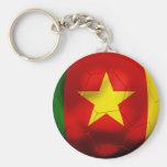 Cameroon Football Basic Round Button Keychain