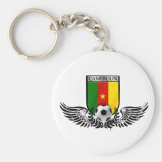 Cameroon football fans emblem shield badge keychains