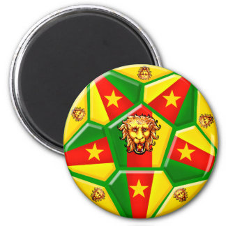 Cameroon football Modern soccer ball gifts 2 Inch Round Magnet