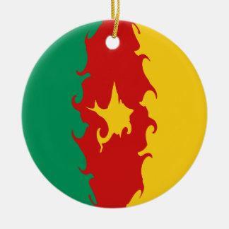 Cameroon Gnarly Flag Ceramic Ornament