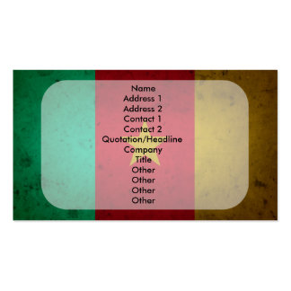 Cameroon Grunge Flag Cameroonian Texture Double-Sided Standard Business Cards (Pack Of 100)
