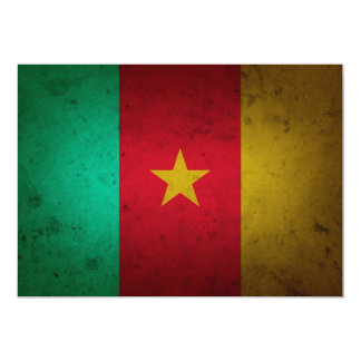 Cameroon Grunge Flag Cameroonian Texture Card