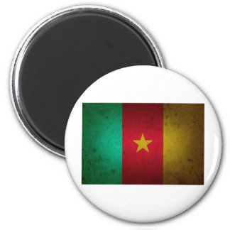 Cameroon Grunge Flag Cameroonian Texture Magnet