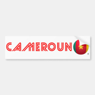 Cameroon - Les Lions Indomables Football Bumper Sticker