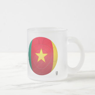 Cameroon - Les Lions Indomables Football Frosted Glass Coffee Mug
