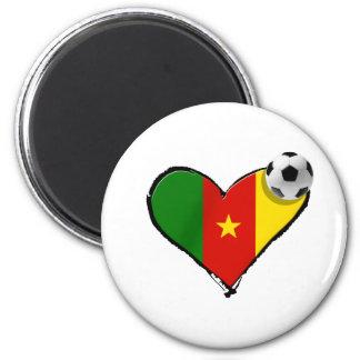 Cameroon love Cameroun football heart 2 Inch Round Magnet