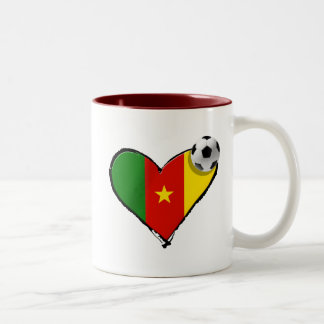 Cameroon love Cameroun football heart Coffee Mugs