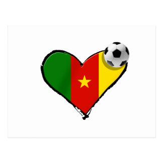 Cameroon love Cameroun football heart Postcard