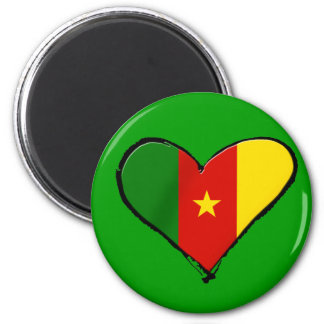 Cameroon love - I love Cameroon flag gifts 2 Inch Round Magnet