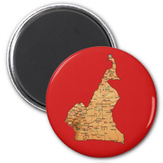 Cameroon Map Magnet
