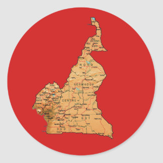 Cameroon Map Sticker