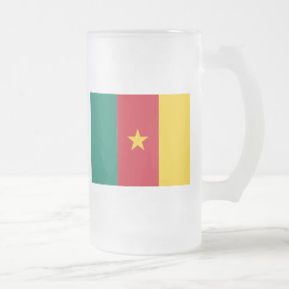 cameroon 16 oz frosted glass beer mug