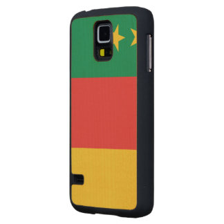 Cameroon Old Flag Carved® Maple Galaxy S5 Slim Case