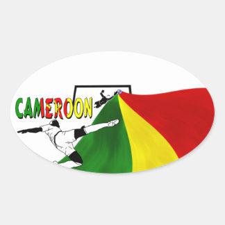 Cameroon Oval Sticker