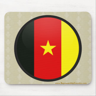 Cameroon quality Flag Circle Mouse Pads