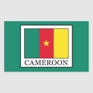 Cameroon Rectangular Sticker