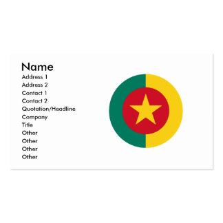 Cameroon Round Flag Design Double-Sided Standard Business Cards (Pack Of 100)