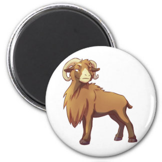 Cameroon Sheep 3 2 Inch Round Magnet