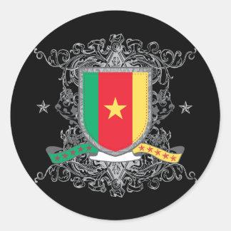 Cameroon Shield Classic Round Sticker