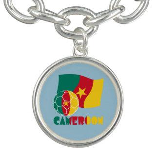 Cameroon Soccer Ball and Flag Bracelets