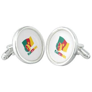 Cameroon Soccer Ball and Flag Cufflinks