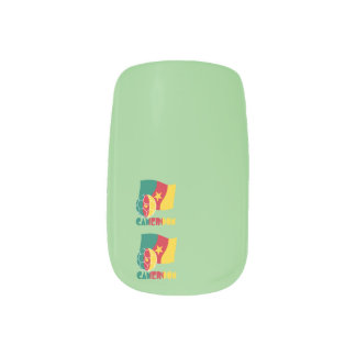 Cameroon Soccer Ball and Flag Minx® Nail Wraps
