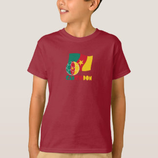 Cameroon Soccer Ball and Flag T-Shirt