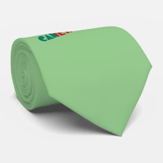 Cameroon Soccer Ball and Flag Tie