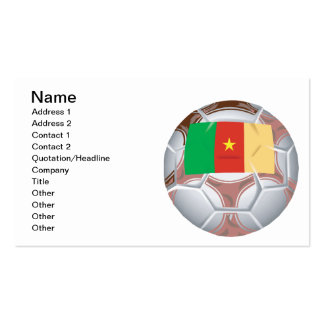 Cameroon Soccer Ball Double-Sided Standard Business Cards (Pack Of 100)