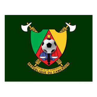 Cameroon soccer ball emblem coat of arms postcard