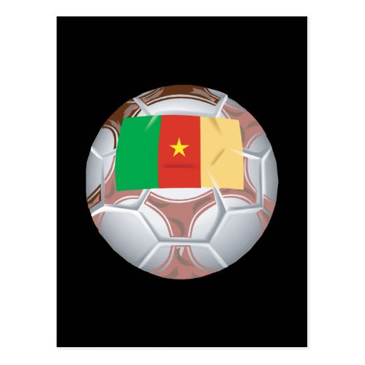 Cameroon Soccer Ball Postcard
