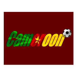 Cameroon Soccer Football logo Postcard