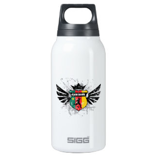 Cameroon soccer insulated water bottle