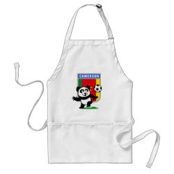 Apron with Cameroon Football Panda design