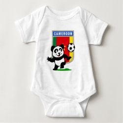 Baby Jersey Bodysuit with Cameroon Football Panda design