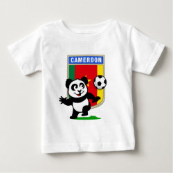 Baby Fine Jersey T-Shirt with Cameroon Football Panda design