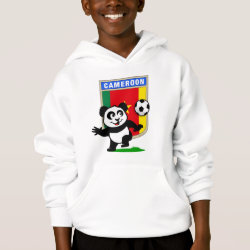 Girls' American Apparel Fine Jersey T-Shirt with Cameroon Football Panda design