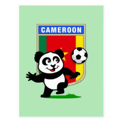 Postcard with Cameroon Football Panda design