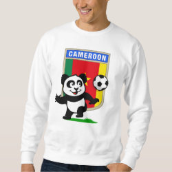 Men's Basic Sweatshirt with Cameroon Football Panda design