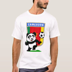 Men's Basic T-Shirt with Cameroon Football Panda design