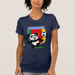 Women's American Apparel Fine Jersey Short Sleeve T-Shirt with Cameroon Football Panda design