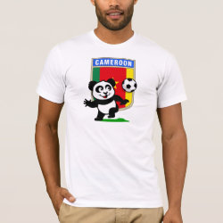 Men's Basic American Apparel T-Shirt with Cameroon Football Panda design