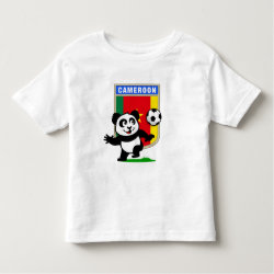 Toddler Fine Jersey T-Shirt with Cameroon Football Panda design