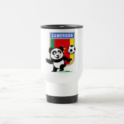 Travel / Commuter Mug with Cameroon Football Panda design