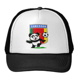 Trucker Hat with Cameroon Football Panda design